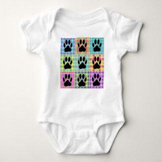 Body Para Bebê Edredão do teste padrão da pata do cão