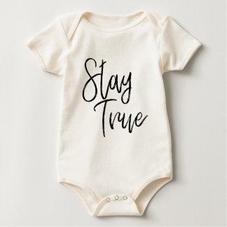 Body Para Bebê Efeito verdadeiro da escova da arte da palavra da