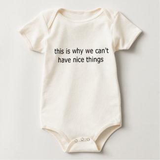 """Body Para Bebê """"eis porque nós não podemos ter coisas agradáveis"""