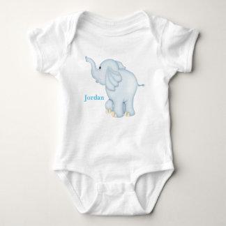 Body Para Bebê Elefante bonito do bebê azul do miúdo
