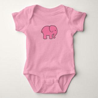 Body Para Bebê Elefante cor-de-rosa de bebê