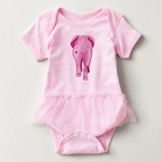 Body Para Bebê Elefante cor-de-rosa SWAK