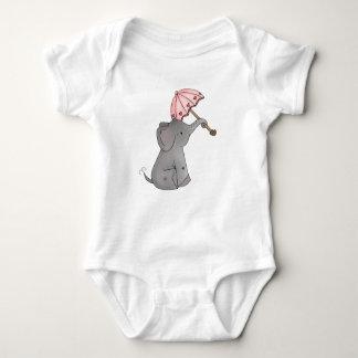 Body Para Bebê Elefante do guarda-chuva de Ella