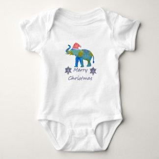 Body Para Bebê Elefante do Natal