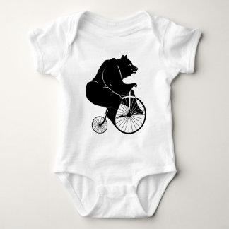 Body Para Bebê Elefante que monta uma bicicleta