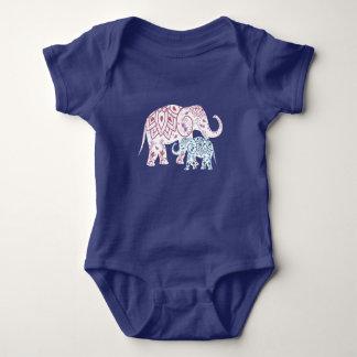 Body Para Bebê Elefantes, MAMÃ e mim de Boho combinando
