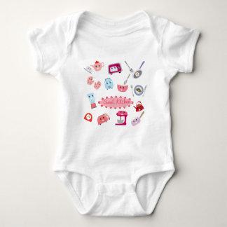 Body Para Bebê Eletricidade cor-de-rosa doce da cozinha e ícone