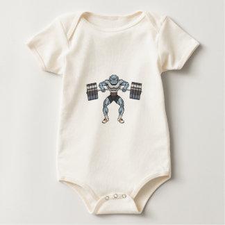 Body Para Bebê elevador de peso do buldogue