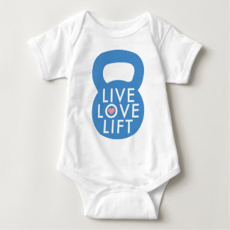 "Body Para Bebê Elevador vivo do amor do azul ""! """