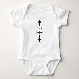 Body Para Bebê em da comida/comida para fora
