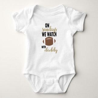 Body Para Bebê Em domingos nós olhamos o futebol com pai