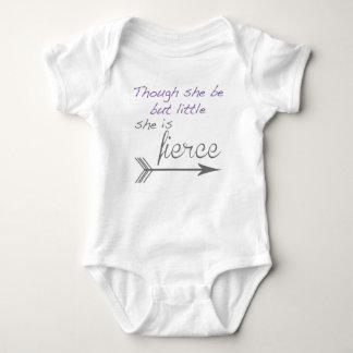 Body Para Bebê Embora seja mas pouco é feroz