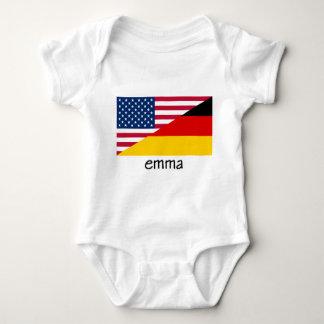 Body Para Bebê emma, bandeira alemão-americana