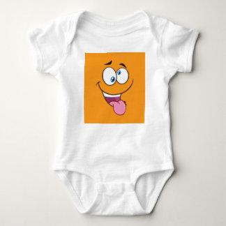 Body Para Bebê Emoji quadrado pateta parvo