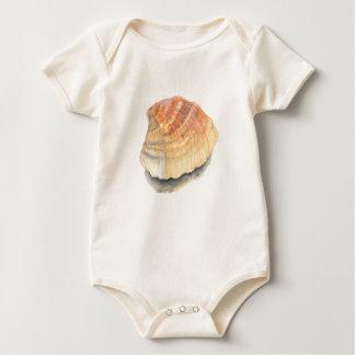 Body Para Bebê Encalhe o escudo, o amarelo e a laranja do mar do