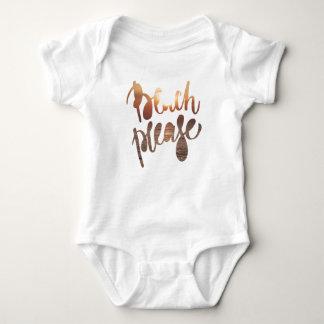 Body Para Bebê ENCALHE POR FAVOR, tipografia do divertimento &