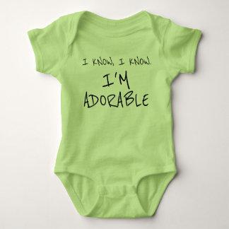 Body Para Bebê Engraçado eu sei que eu sou roupa adorável do bebê