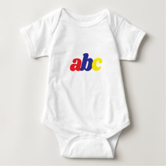 Body Para Bebê engrenagem do bebê do ABC