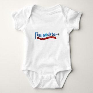 Body Para Bebê Engrenagem & roupa de Docktor dos peixes