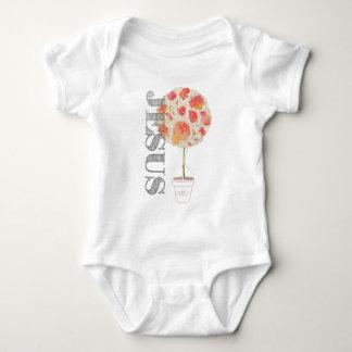 Body Para Bebê Enraizado e aterrado firme no amor Lm