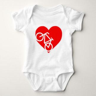 Body Para Bebê entalhe da bicicleta do coração
