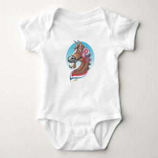 """Body Para Bebê Equi-toons, da """"os dias glória"""" patrocinam o"""