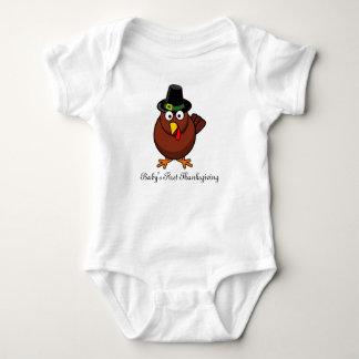 Body Para Bebê Equipamento da acção de graças do bebê primeiro