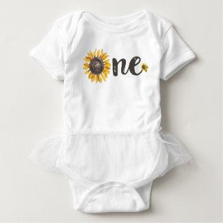 Body Para Bebê Equipamento do aniversário do girassol primeiro