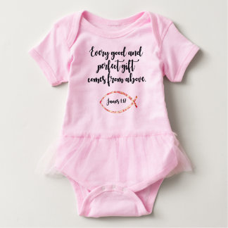 Body Para Bebê Equipamento do tutu do bebé com verso da escritura