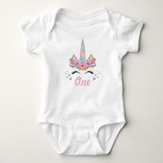 Body Para Bebê Equipamento floral do partido de primeiro