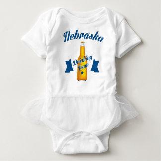 Body Para Bebê Equipe do bebendo de Nebraska