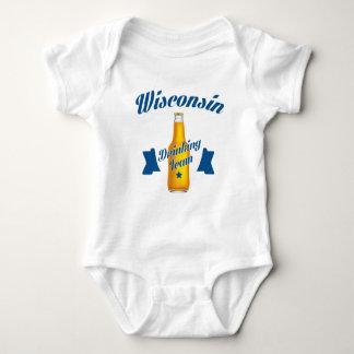 Body Para Bebê Equipe do bebendo de Wyoming