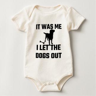 Body Para Bebê Era mim que eu deixei os cães para fora