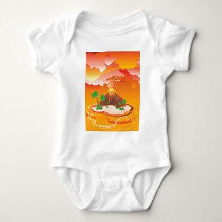 Body Para Bebê Erupção do vulcão dos desenhos animados