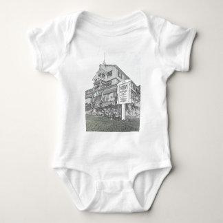 Body Para Bebê Esboço da casa de Parker - costa do jérsei