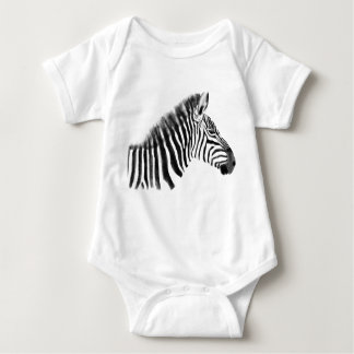 Body Para Bebê Esboço da zebra das pastagem do Savanna do animal
