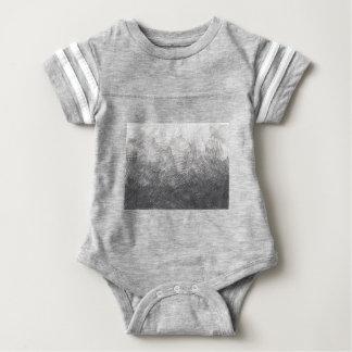 Body Para Bebê Esboço do lápis. Cursos da hachura. #002a