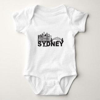 Body Para Bebê Esboço do texto de Sydney Austrália Sklyine