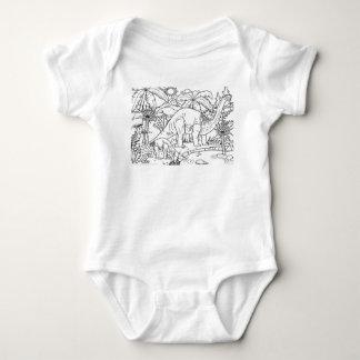 Body Para Bebê esboço dos miúdos