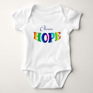 Body Para Bebê Escolha o bebê Onsie da ESPERANÇA