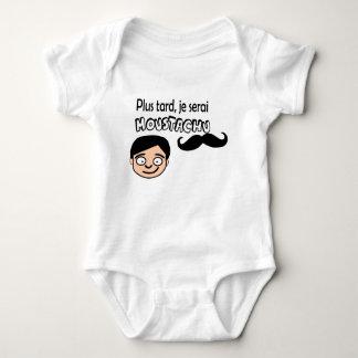 Body Para Bebê Esconde camada Com bigode
