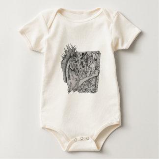 Body Para Bebê Escondido Wallow Ringo o cavalo