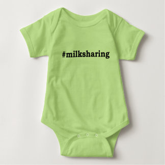 Body Para Bebê escrita preta #milksharing