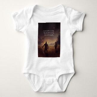 Body Para Bebê Escute com curiosidade falam com o ato da