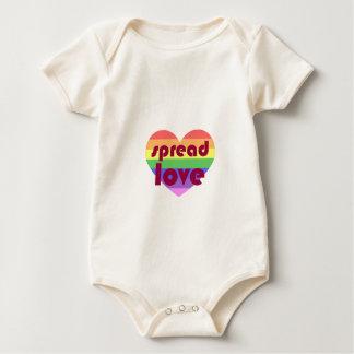 Body Para Bebê Espalhe o amor alegre