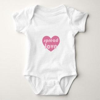 Body Para Bebê Espalhe o amor (geral)