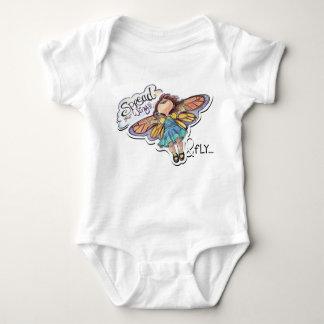 """Body Para Bebê """"Espalhe suas asas & voe"""" o bodysuit da menina da"""