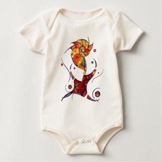 Body Para Bebê Espanessua - flor espiral imaginária