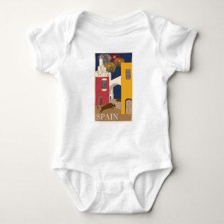 Body Para Bebê Espanha das viagens vintage