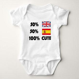 Body Para Bebê Espanhol de 50% Ingleses 50% 100% espanhas bonitos